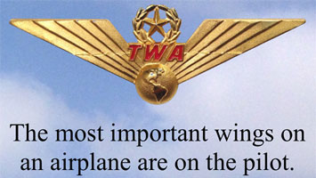 The most important wings on an airplane are on the pilot